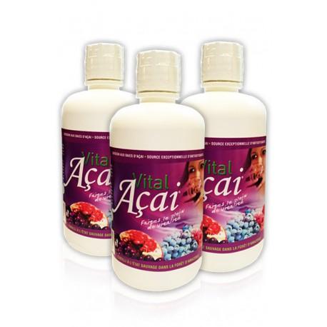 Pack TRIO Vital Açai Fruité (3 bouteilles)