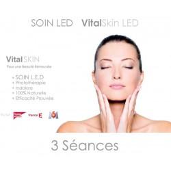 Forfait 3 séances LED + JET PEEL avec application Acide Hyaluronique