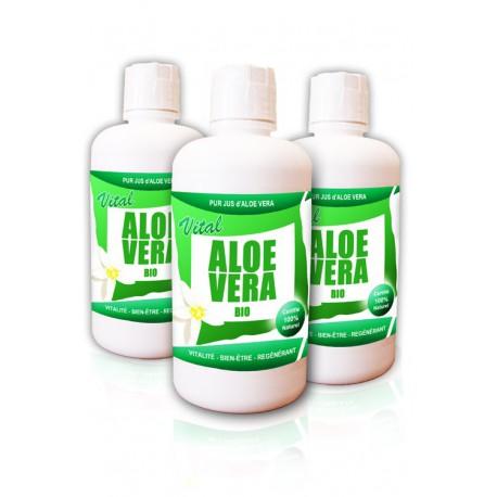 Pack TRIO Pur Jus d'Aloe Vera Certifié BIO (3 bouteilles)