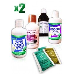 Pack Minceur 1 Mois : 60 Thés + 2 Colon Cleanse + 2 Açai + 2 Mincia + 2 Hoodia