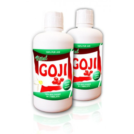 Pack DUO Vital Goji 100% Pur Jus de Goji BIO (2 bouteilles)