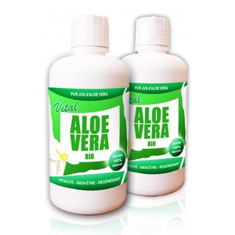 Pack DUO Pur Jus d'Aloe Vera Certifié BIO (2 bouteilles)